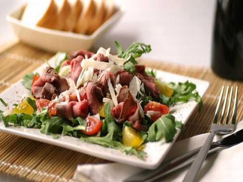 Roastbeefsalat mit Dijon-Dressing