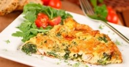 Frittata mit Lachs und Spinat Rezept