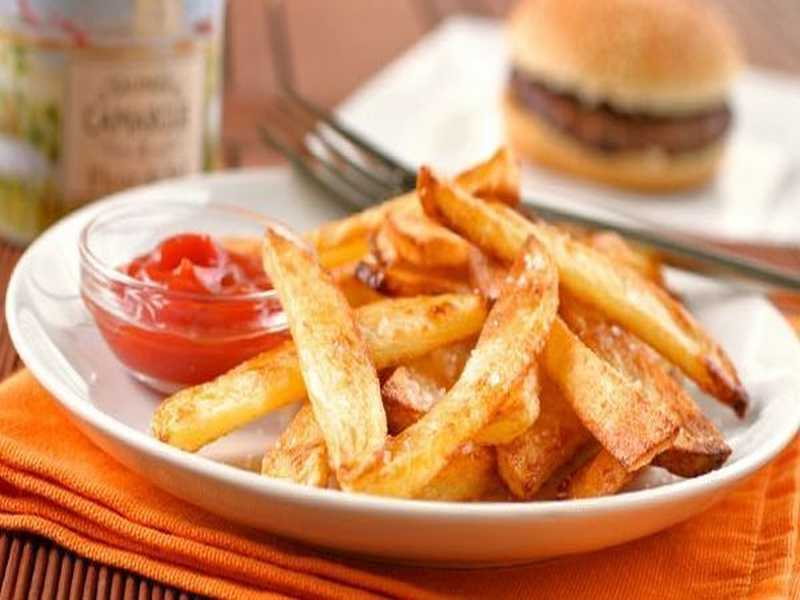 Ofen Pommes frites selbstgemacht