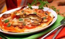 Pizza Speck e Funghi Rezept