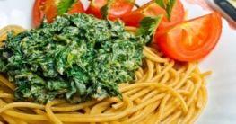 Spinat-Ricotta-Spaghetti