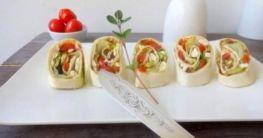 Aromatisch gefüllte vegetarische Wraps