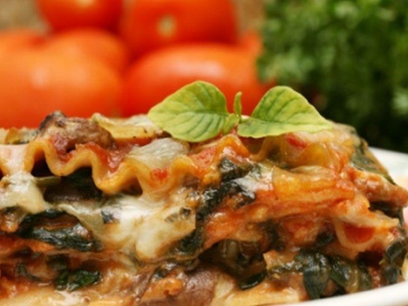 Champignon-Spinat-Lasagne
