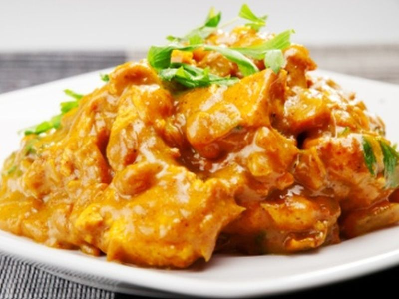 Curry-Hühnchen-Geschnetzeltes