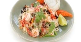 Asiatischer Shrimps Salat