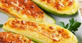 Überbackene Zucchini