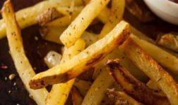 Selbstgemachte Ofen Pommes frites Rezept