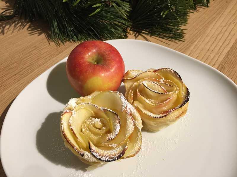 Apfelrosen Rezept