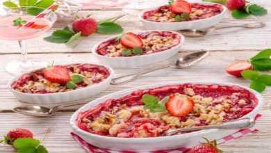 Erdbeer Crumble