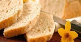 Eckliges Brot mit Backpulver