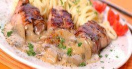Schweinefilet mit Champignon-Rahm-Sauce