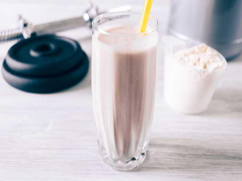 Magerquark-Eiweiß-Shake